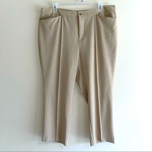 Catherines Tan Casual Stretch Pants Plus Size 22WP